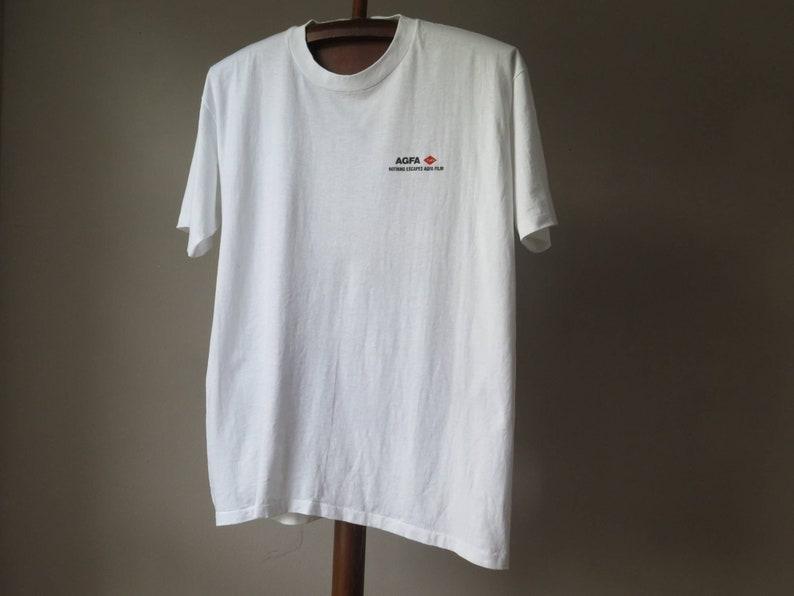 vintage agfa film tshirt Agfa vintage film Ad T Shirt 90s classic logo single stitch tee camera film tshirt