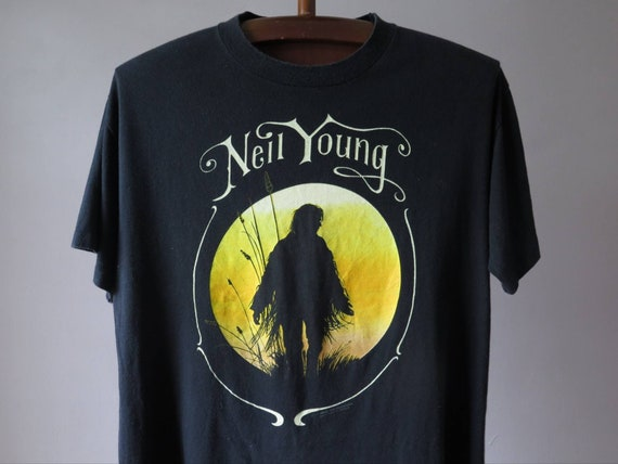 vintage neil young tshirt neil young harvest moon