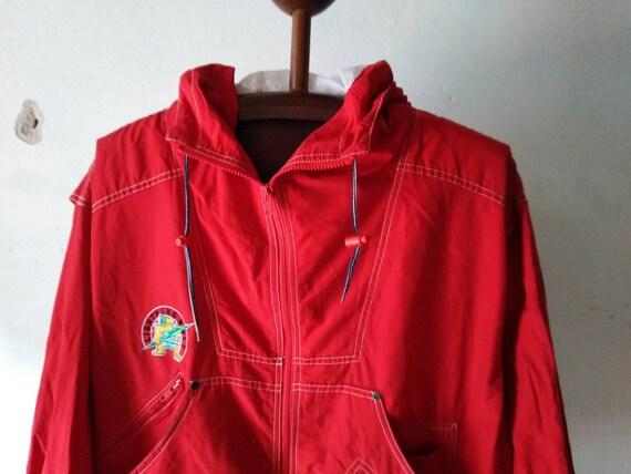 vintage lightning bolt jacket vintage red hoodie