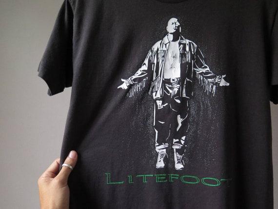 vintage litefoot rapper tshirt native american rap