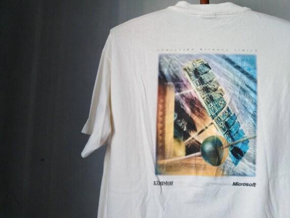 vintage microsoft tshirt kingston tshirt vintage t