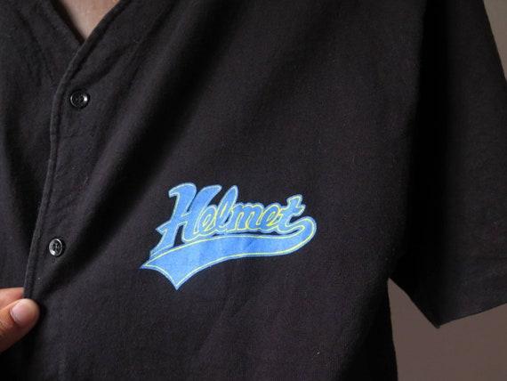 vintage helmet band t shirt baseball shirt frank … - image 2