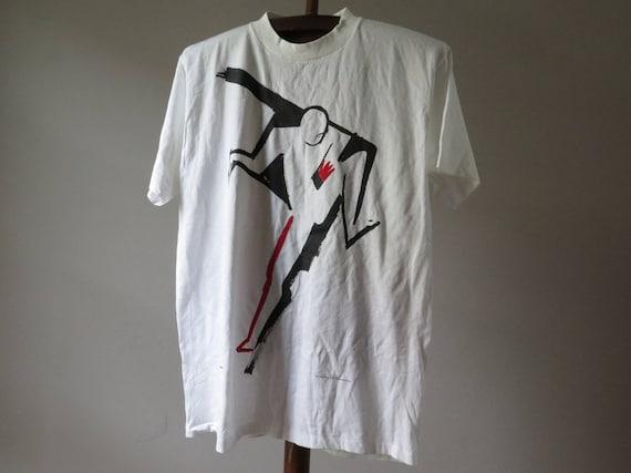 vintage  ty wilson tshirt vintage art tshirt vinta