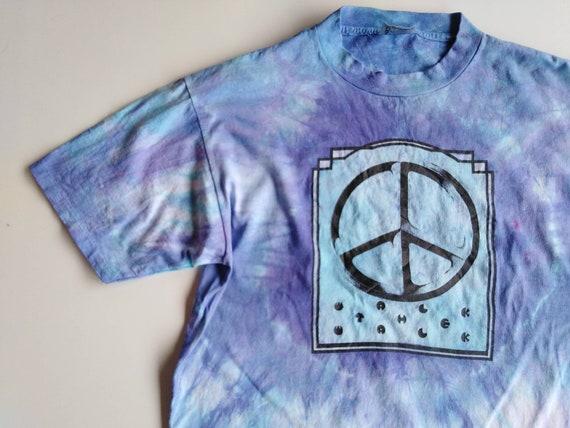 vintage peace tshirt hippie tshirt vintage tie dye