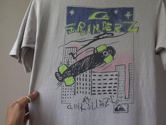 vintage quiksilver tshirt grinderz by quiksilver 8
