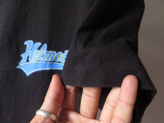 vintage helmet band t shirt baseball shirt frank … - image 6