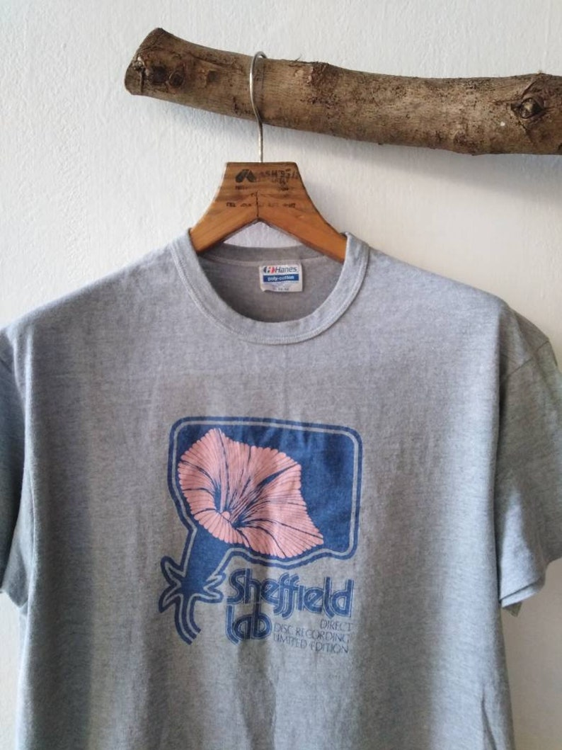 Sheffield Lab Vintage Tshirt  audiophile  direct disc  vinyl records  records Moscow session  James newton howrrd