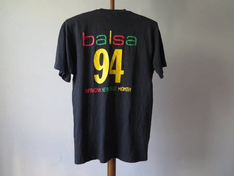 NYU School of Law Black Allied Law Students Association BALSA African Heritage Month 1994 vintage tee human rights equity community T-shirt