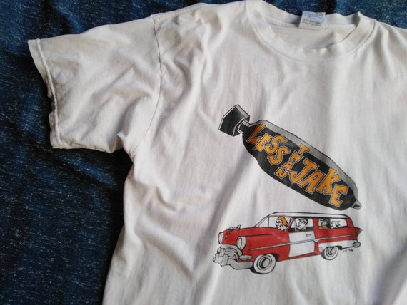 vintage less than jake tshirt ska punk tshirt pop