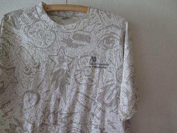 vintage the art institute tshirt 90s overprint tsh