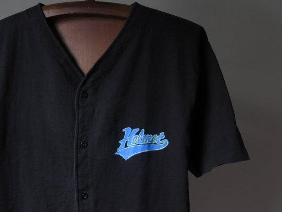 vintage helmet band t shirt baseball shirt frank … - image 5