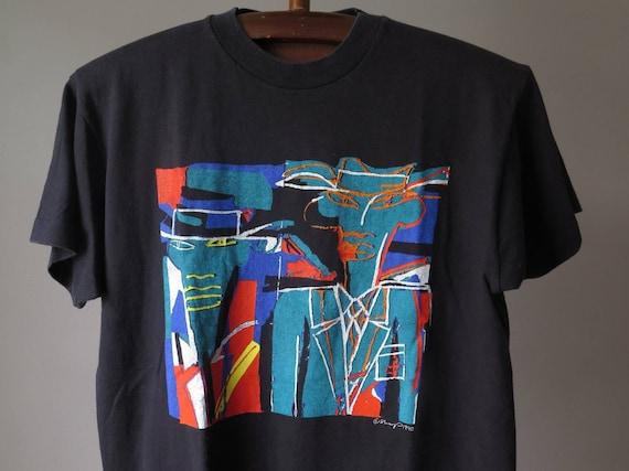 Sharp 1990 art vintage tee artist painting abstrac