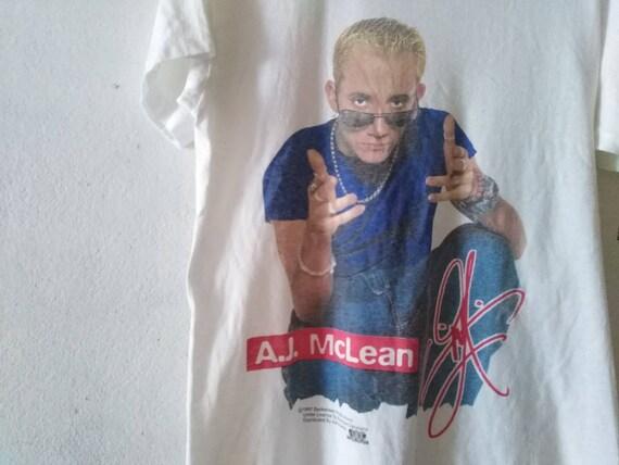 vintage a.j.mclean tshirt vintage backstreet boys
