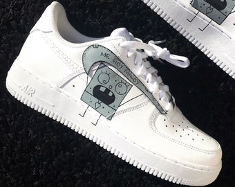 sale retailer cf154 1dcb5 Doodlebob Nike Air Force 1 Custom