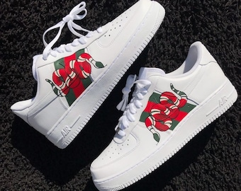 lowest price 8e270 682e6 Gucci Snake Inspired Nike Air Force 1 Custom