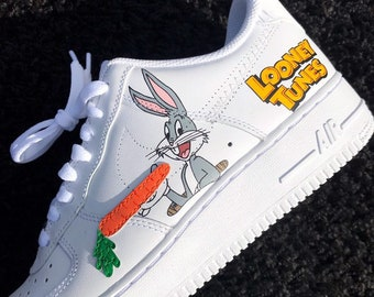 49cf3689d6157b Bugs Bunny Looney Tunes Inspired Nike Air Force 1 Custom
