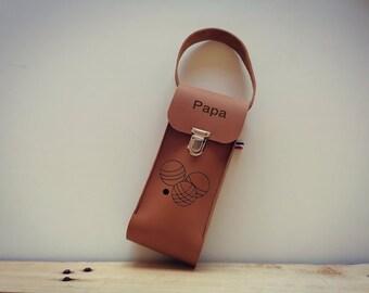 Leather petanque bag/bowl bag/petanque/storage balls/leather bag/custom bag