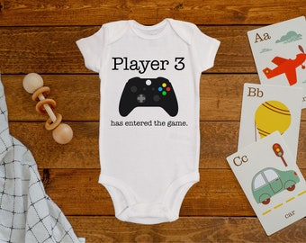 MIXED COLORS PLAYSTATION 4 CUTE BABY-GROW BORN TO PLAY PS4 WITH MY DADDY