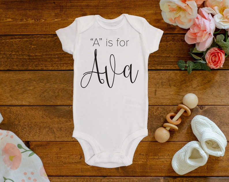 A is for Ava Onesie\u00a9Bodysuit