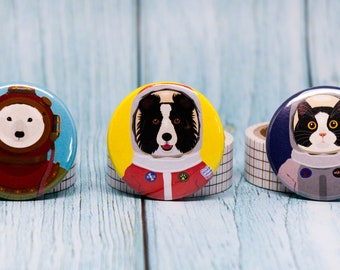 Set of 3 Fridge Magnets - Molly and Tig