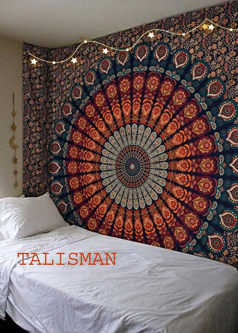 Wall Tapestry Mandala Tapestry Wall Hanging Tapestry Cotton image 0