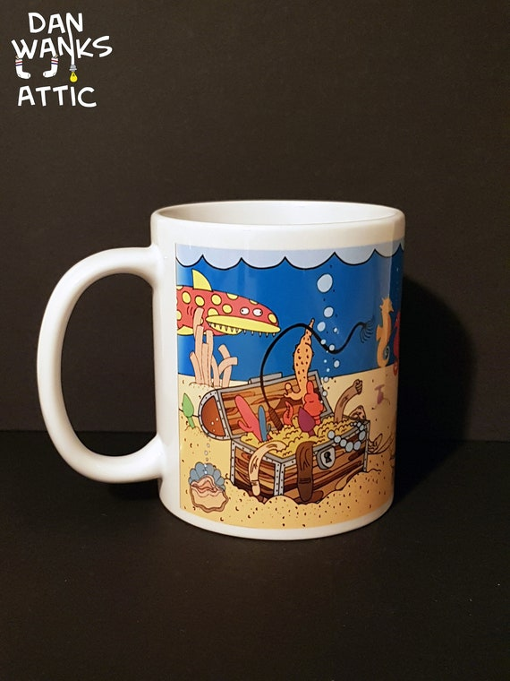 Funny Adult Mug Cup Treasures Of The Sea Free Uk P P Etsy