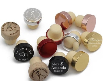 25pcs Personalized Engraved Wine Stopper Baby Shower Party Decoration Christmas Gift Wedding Favors Customize Any Design