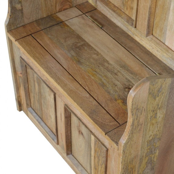 Awesome Small Monks Storage Bench Beautifully Designed Solid Mango Wood Uwap Interior Chair Design Uwaporg