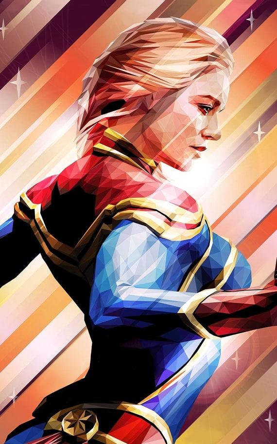 Captain Marvel Carol Danvers Brie Larson Marvel Universe Avengers Movie Poster