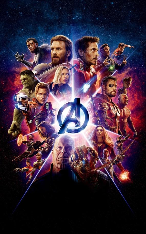 THE AVENGERS Movie PHOTO Print POSTER Endgame Iron Man Captain America Hulk 03