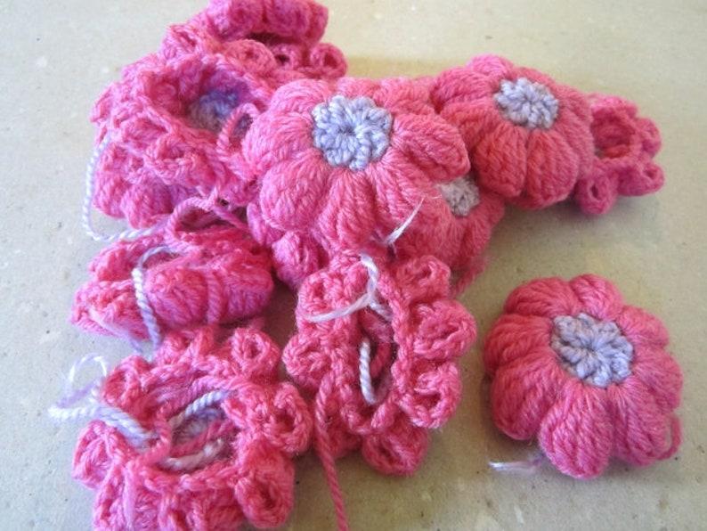 f473fa575d91c 35 crochet flowers vintage crocheted flowers flowers pink purple