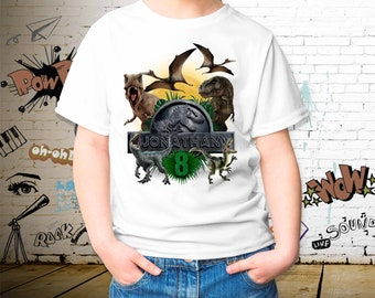 99ed0e22 Dino World Birthday Youth Color T-shirt, Dinos World Birthday Toddler, Personalized  Name and Age, Unisex Kid's T-shirt, Personalize T-shirt