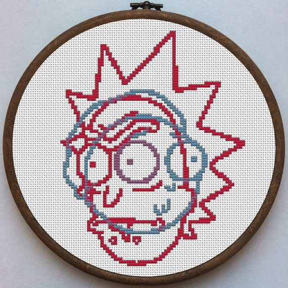 Rick and Morty cross stitch KIT