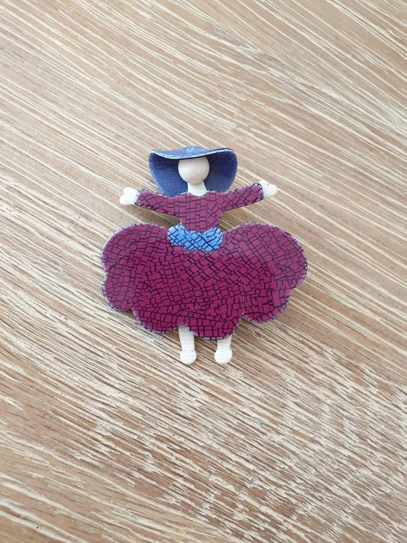"Lea Stein ""Ballerina (Scarlet O'Hara)"" Brooch"