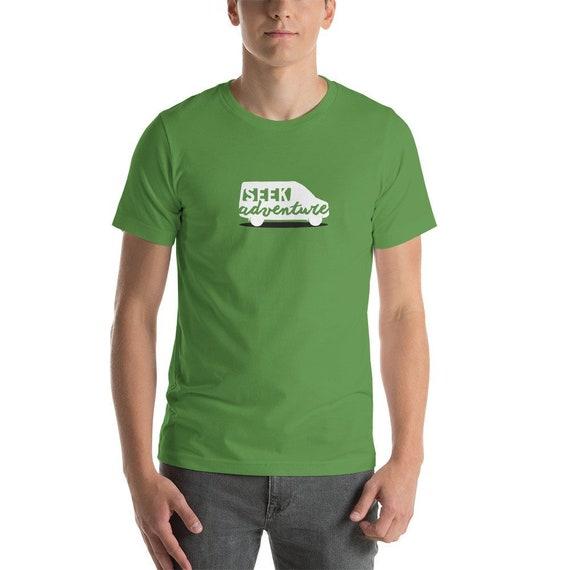 Seek Adventure Short-Sleeve T-Shirt, Mercedes Sprinter Shirt, Camper Shirt,  Sprinter Van Shirt, Mercedes Sprinter Gift, Van Life Shirt