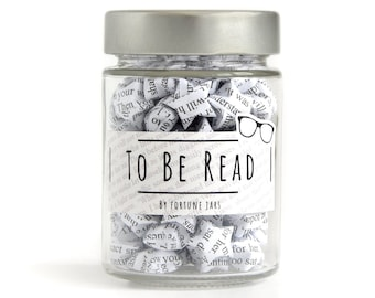 To Be Read - TBR Jar, Paper Stars with book titles, folded 3d origami lucky stars , Positive,Bookish, Gift,Books, Bookish Accessories