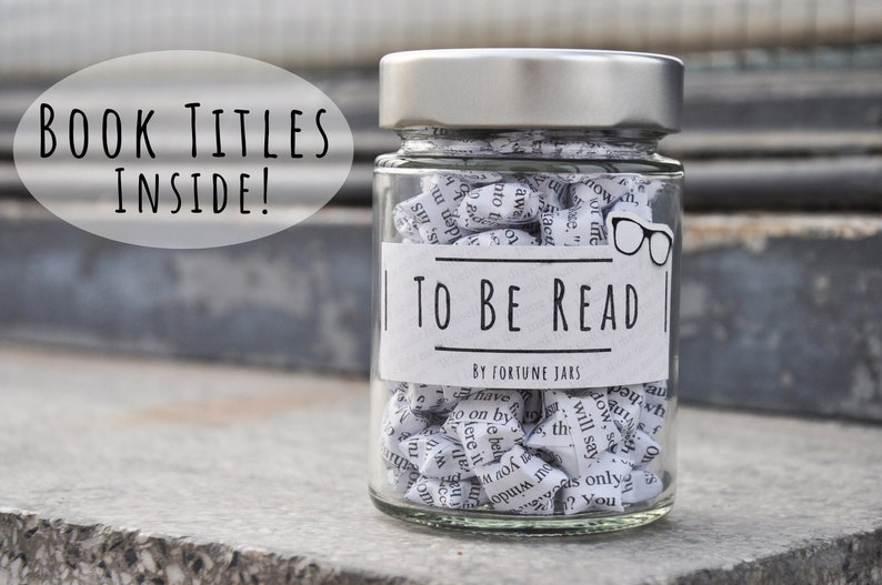 To Be Read  TBR Jar Lucky Paper Stars Hand Folded Home image 0