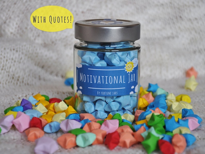 Motivational Stars With Awesome Quotes Lucky Paper Stars image 0