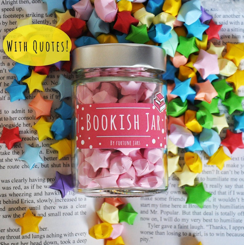Bookish Stars With Book Quotes Lucky Paper Stars Hand Folded image 0