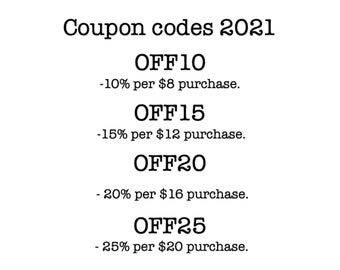 Coupon code, you do not need to buy this listing, read the description for more info.