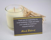 Votive soy wax candle (tr...