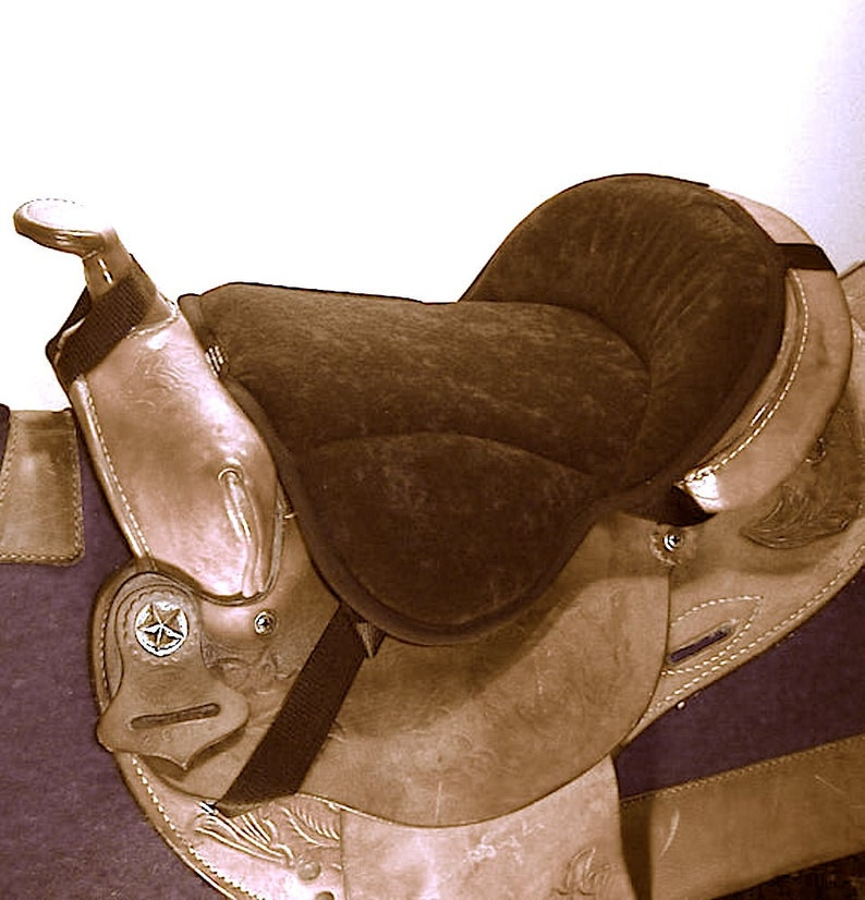 Western Seat Saver black cushions for  horse saddles image 0