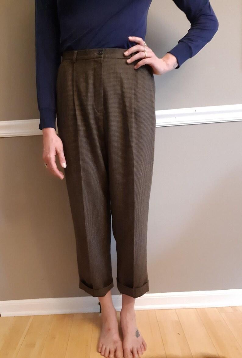 Teeny Tiny Houndstooth Wool Pants