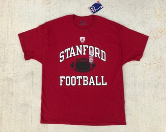a2f4d239 NWT new deadstock Champion STANFORD Football t shirt red & white graphic logo  tee crew neck short sleeve classic unisex extra large XL