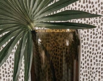 The Curve Vase - Recycled Wine Bottle Vase
