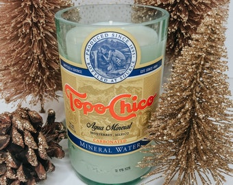 Giant Topo Chico Bottle Soy Candle