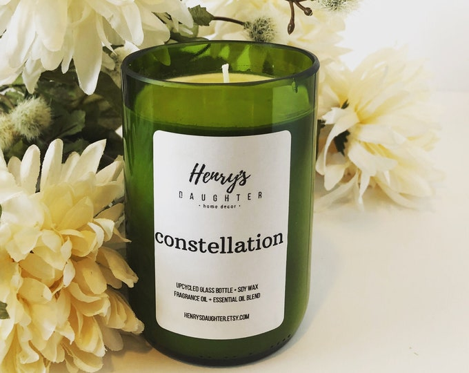 Constellation - Wine Bottle Candle