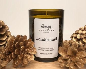 Wonderland - Wine Bottle Candle - Christmas Tree Holiday fragrance