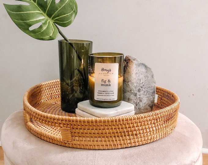 Fig & Musk - Wine Bottle Candle