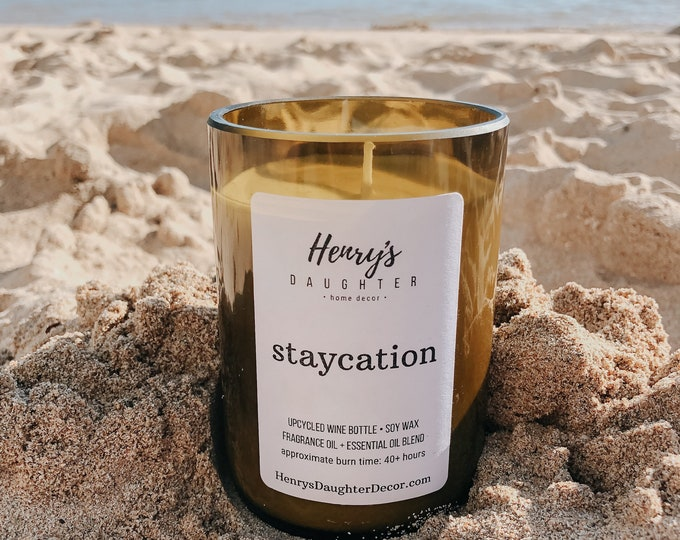 Featured listing image: Staycation Wine Bottle Candle | Palo Santo